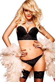 时尚超模金塔·拉皮娜内衣写真大片