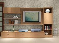客厅电视背景墙小清新素雅设计效果图