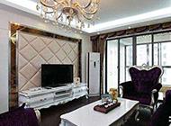 90平典雅欧式客厅装修效果图