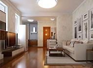 85平新房装简约客厅修效