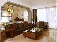 复式新房新中式客厅装修实景图