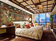别墅卧室奢华中式装修效果图