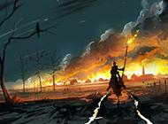 炫酷的游戏场景设计原画