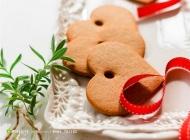 创意心形饼干丝带图片