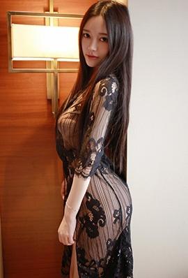 模范学院美女王艳卓蕾丝睡裙写真性感迷人