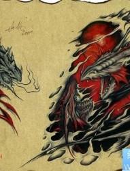 欧美龙纹身图片:欧美龙纹身图片图案