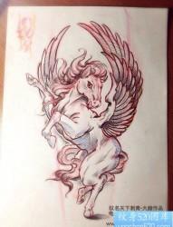 前卫流行的一张天马纹身图片