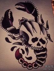 小巧流行的一张蝎子纹身手稿