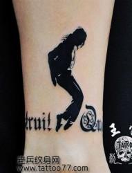 腿部图腾杰克逊纹身图片