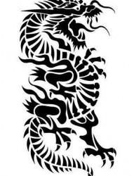 男人喜欢的图腾龙纹身图片