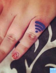 wi fi手机信号标志纹身图片