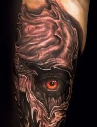 腿部个性的恶魔纹身