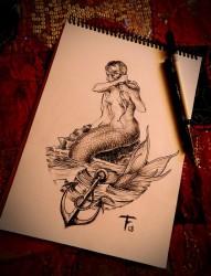 漂亮好看的美人鱼手稿