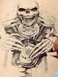 一款个性纹身手稿图案