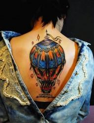 最好的纹身馆推荐一组放飞梦想自由翱翔热气球纹身图案