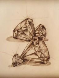 漂亮唯美的钻石手稿
