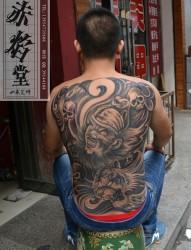 藏地王菩萨纹身