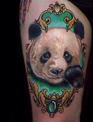 手臂 腿部 胸部动物肖像纹身