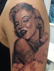 肖像纹身,玛丽莲梦露纹身,新场纹身店,新场哪里可以纹身
