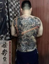 山东纹身 常山赵子龙纹身 设计纹身 赤焰堂纹身店