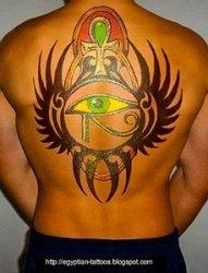 古埃及主题荷鲁斯之眼印章及艳后纹身图案