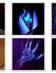 一张多组荧光纹身