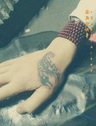 蝎子纹身 金左堂纹身盖疤痕修改纹身 安阳纹身 水冶纹身