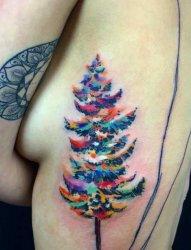 各种漂亮的圣诞树和圣诞老人纹身图案