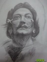 一张男士头部肖像纹身素材