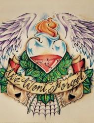 爱的诠释纹身手稿