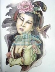 美女蛇美杜莎纹身图案图片