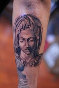 手臂宗教风格圣母肖像纹身图案