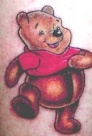 彩色的小熊维尼卡通纹身图案