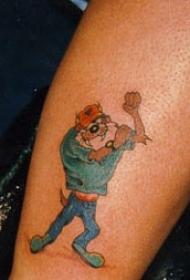 塔斯曼安魔鬼工人卡通纹身图案