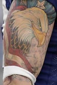 经典的美国鹰纹身图案