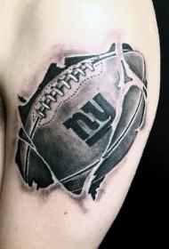 肩部3D美式纹身图案