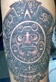 阿兹特克石像太阳神纹身图案