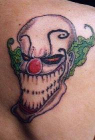 大笑的小丑纹身图案