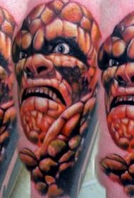 彩色神奇卡通石头人纹身图案