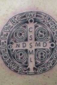 天主教的十字架纹身图案