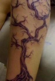 精美个性的枯萎树纹身图案