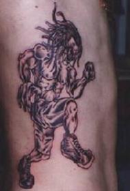 行走的巫毒恶魔纹身图案