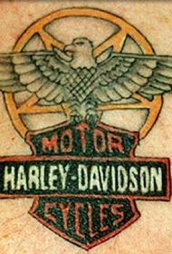 老鹰哈雷戴维森标志纹身图案