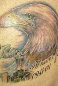 哭泣鹰美国911纹身图案