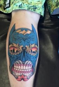 墨西哥风格图腾蝙蝠侠纹身图案
