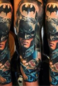 New School蝙蝠侠纹身图案