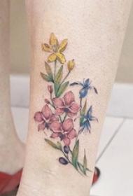 女神纹身小清新植物纹身小花朵纹身图案大全图片
