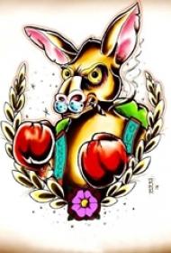 彩绘水彩素描创意动物恶搞纹身手稿