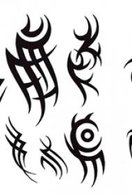 黑色素描创意精美图腾纹身图片