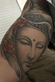 日式班诺纹身 男性手臂上日式班诺纹身龙头纹身半甲图案大全图片